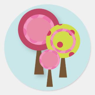 Sweet Lollipop Tree Cupcake Topper/Sticker Classic Round Sticker
