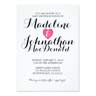sweet love BABY SHOWER invitation CANDY pink