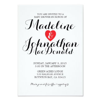 sweet love BABY SHOWER invitation CANDY red & pink