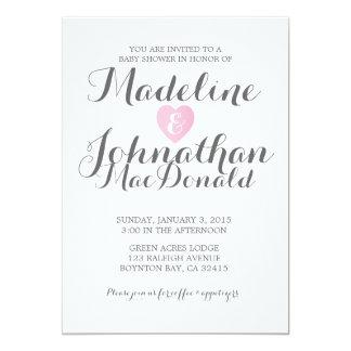 sweet love BABY SHOWER invitation gender neutral 2