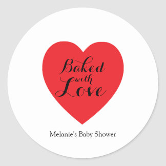 sweet love BAKED WITH LOVE party favor label