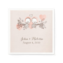 Sweet Love Birds Paper Napkin
