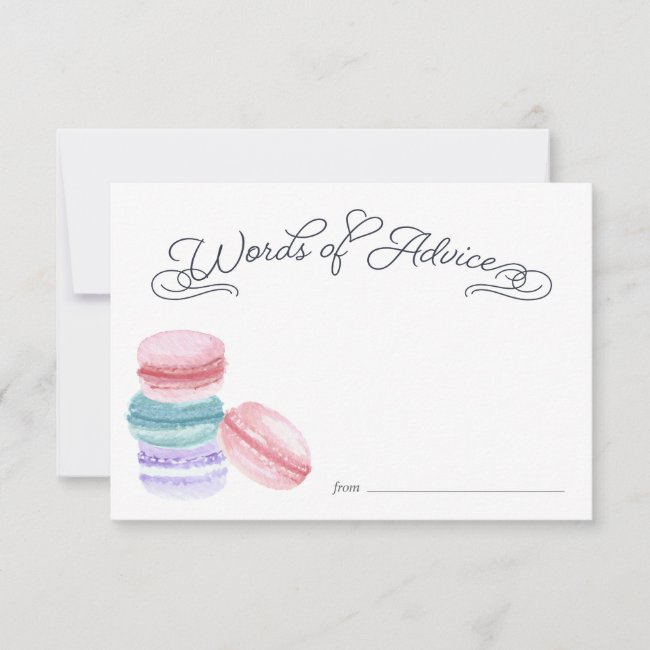 Sweet Love | Bridal Shower Advice Cards