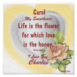 Sweet Love Flower,  Poster _ Customize