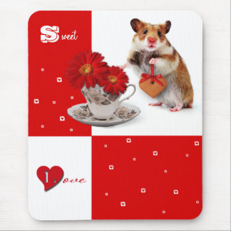 Sweet Love. Fun Valentine's Day Gift Mousepad Mousepads
