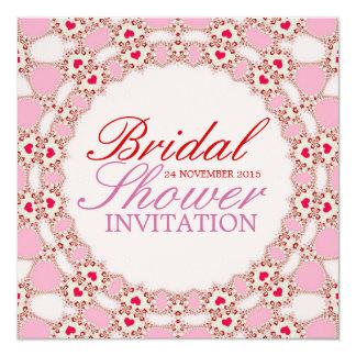 Sweet Love Hearts Lace Bridal Shower Invitation