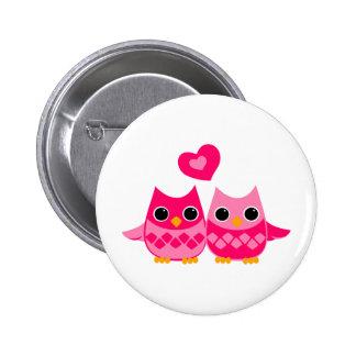 Sweet Love Owls 2 Inch Round Button