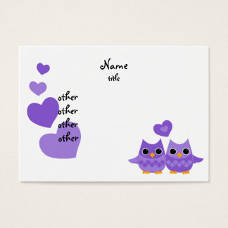 Sweet Love Owls Business Card