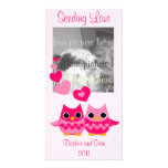 Sweet Love Owls Personalized Photo Card