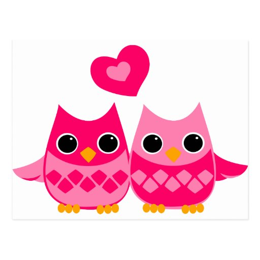 Sweet Love Owls Postcard