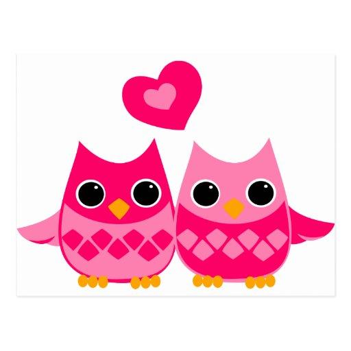 Sweet Love Owls Postcards