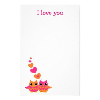Sweet Love Owls Stationery Design