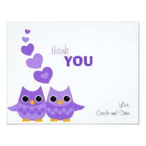 Sweet Love Owls Thank You Note Card