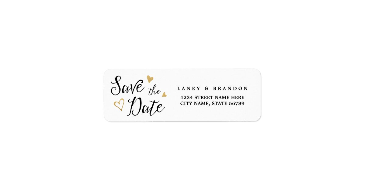 sweet love save the date return address labels zazzle com