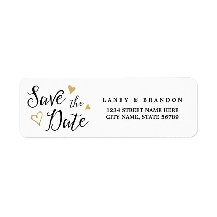 30 Red Hearts Love Wedding Personalized Return Address Labels
