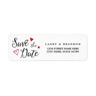 Sweet Love Save the Date Return Address | Red Label