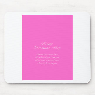 Sweet love valentine's day mouse pad