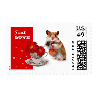 Sweet Love. Valentine's Day Postage Stamp