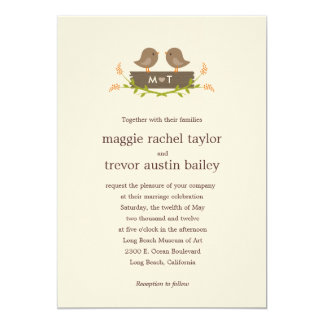 "Sweet Love Wedding Invitation 5"" X 7"" Invitation Card"