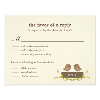 Sweet Love Wedding RSVP Card Custom Invite