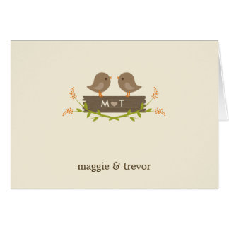 Sweet Love Wedding Thank You Note Cards