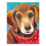 Sweet loving golden retriever dog painting custom invites