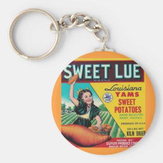 sweet lue yams keychain