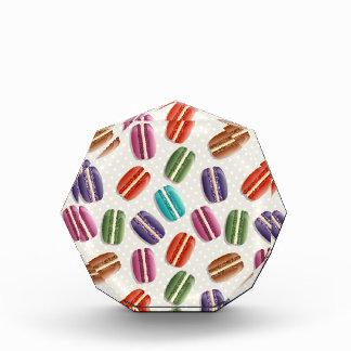 Sweet Macaron Cookies and Polka Dot Pattern Acrylic Award
