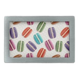 Sweet Macaron Cookies and Polka Dot Pattern Belt Buckle