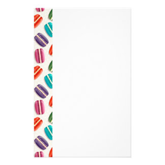Sweet Macaron Cookies and Polka Dot Pattern Stationery