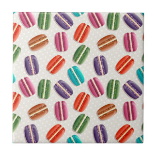 Sweet Macaron Cookies and Polka Dot Pattern Tile