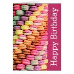 Sweet Macarons Happy Birthday Card
