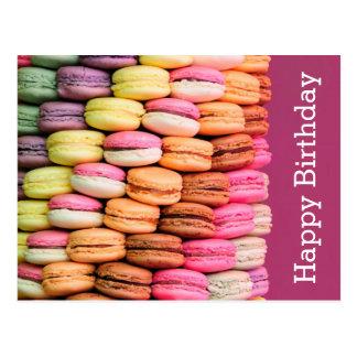 Sweet Macarons Happy Birthday Postcard