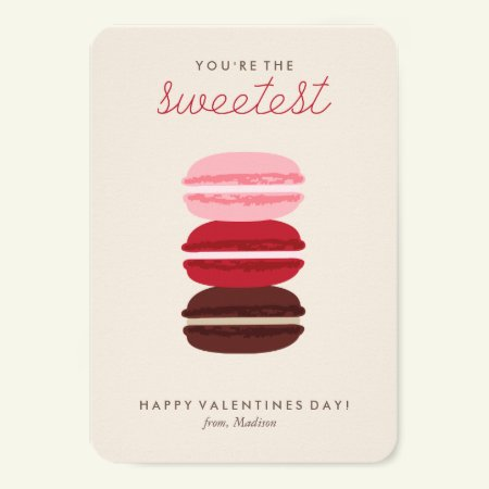Sweet Macarons Kids Classroom Valentine Card