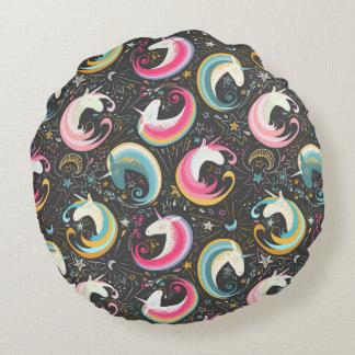 Sweet Magical Unicorn Print Round Pillow