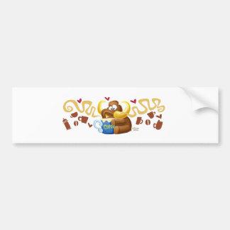 Sweet Mammoth Love Coffee Bumper Sticker