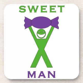 Sweet Man funny novelty art coaster design