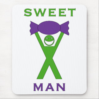 Sweet Man funny novelty word play mouse mat