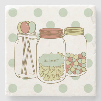 Sweet mason jar coaster
