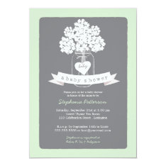 Sweet Mason Jar Neutral Baby Shower Invitation at Zazzle