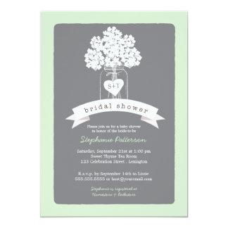 Sweet Mason Jar Neutral Bridal Shower Invitation