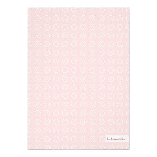 Sweet Mason Jar Pink | Gray Baby Shower Invitation (back side)