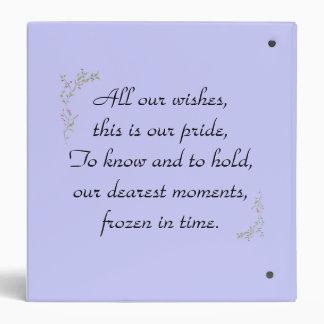 Sweet Memories binder w/poem