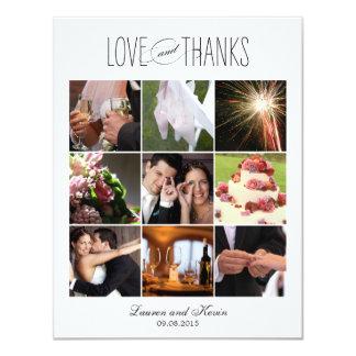 Sweet Memories Wedding Photo Thank You Card White