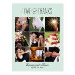 Sweet Memories Wedding Thank You Card Post Card