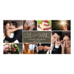 Sweet Memories Wedding Thank You Photo Cards<br><div class='desc'>Share your wedding photos as you send your thank you note with these modern and elegant photo cards that your friends and family will surely adore! Also available in other colors. You can also change the color yourself by clicking the &quot;Customize It&quot; button &gt;&gt; &quot;Edit&quot; &gt;&gt; &quot;Background Color&quot;, and then...</div>