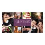 Sweet Memories Wedding Thank You Photo Cards Photo Card