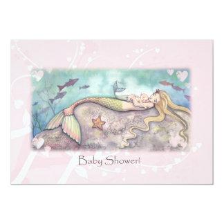 Sweet Mermaid Baby Shower Invitations
