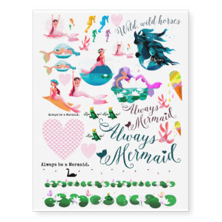 Sweet Mermaid Magic Temporary Tattoos