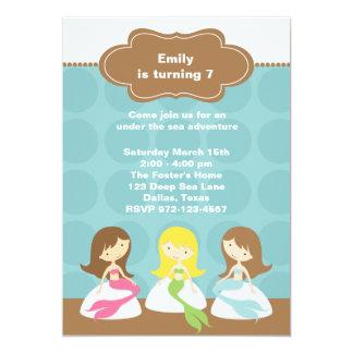 Sweet Mermaids Birthday Invitations